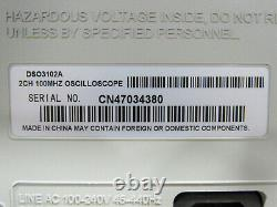 Testé Agilent Dso3102a 100mhz 1gsa/s Oscilloscope De Stockage Numérique À Deux Canaux