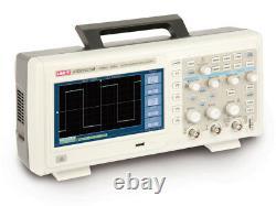 Uni-t Utd2102cm 100mhz 1gs / Digital Storage Oscilloscope 2 Canaux 7 '' Uk LCD Stock