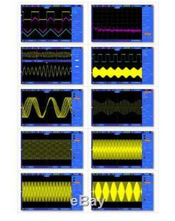 Usb De Stockage Numérique Oscilloscope 2 Canaux 100mhz 1gsa / S Couleur Dso5102p D'affichage